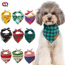 Cheap Pet Puppy Head Scarfs Towel Triangle Bandage for Small Medium Dogs