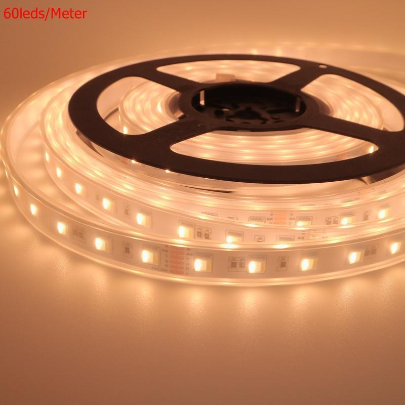 LED Strip 30 LED/M 5050 RGB CCT 5in 1 Chip 60 LED 96 LED DC24V DC12V Kualitas Terbaik flexible LED Strip 12 W 24 W 36 W LED Tape