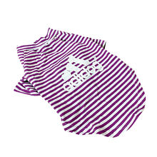 Pet Supplies Summer Cool Clothes Print  Stripes Matching Boy Girl Dog Clothes