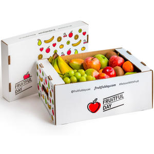 Custom corrugated board carton box fruit packaging cardboard boxes for sale