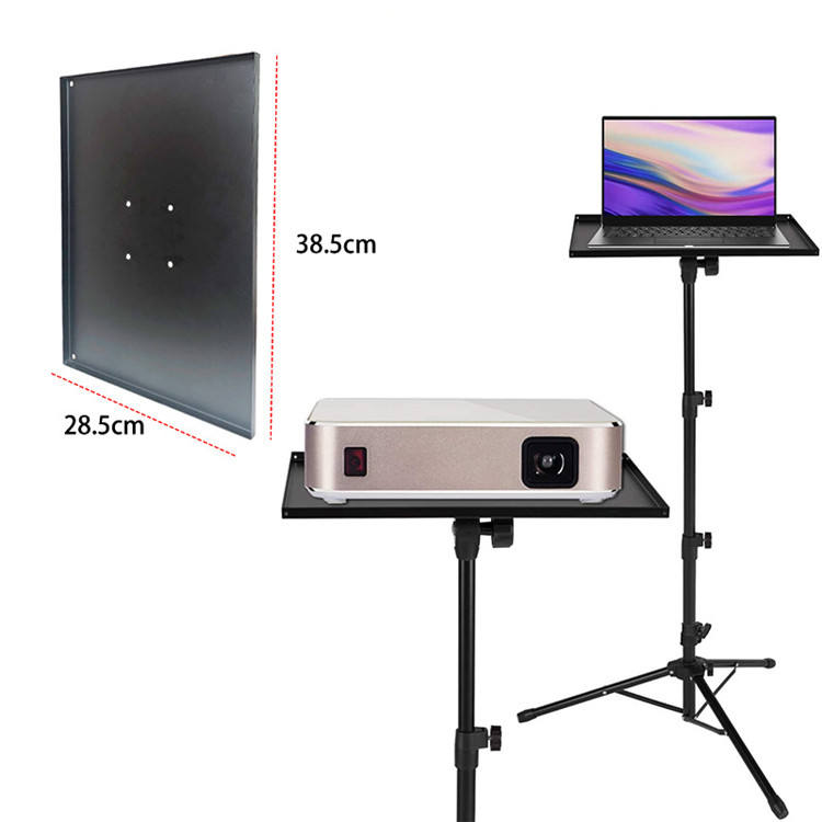High Quality Portable Adjustable Laptop Computer Projector Table Tripod Stand with Metal Tray