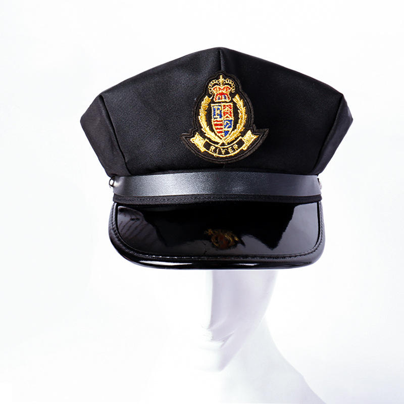 Nieuwe Achthoekige Afgeplatte Sailor Captain Navy <span class=keywords><strong>Cap</strong></span> Outdoor Show Student Security Guard <span class=keywords><strong>Cap</strong></span> Tarwe <span class=keywords><strong>Spike</strong></span> Label <span class=keywords><strong>Cap</strong></span>