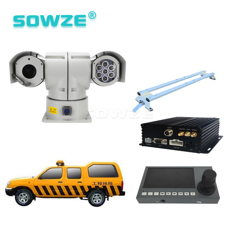 RS485 Control 360 Degree Rotation PTZ Camera Kit for Vehicle Surveillance