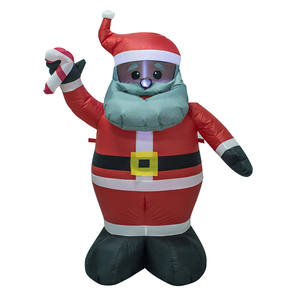Factory direct selling christmas decoration cute black faced santa claus
