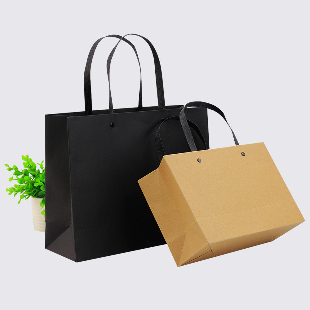 buy kraft paper shopping bags garment recycle paper gift bag personalized customized bag paper with custom printed