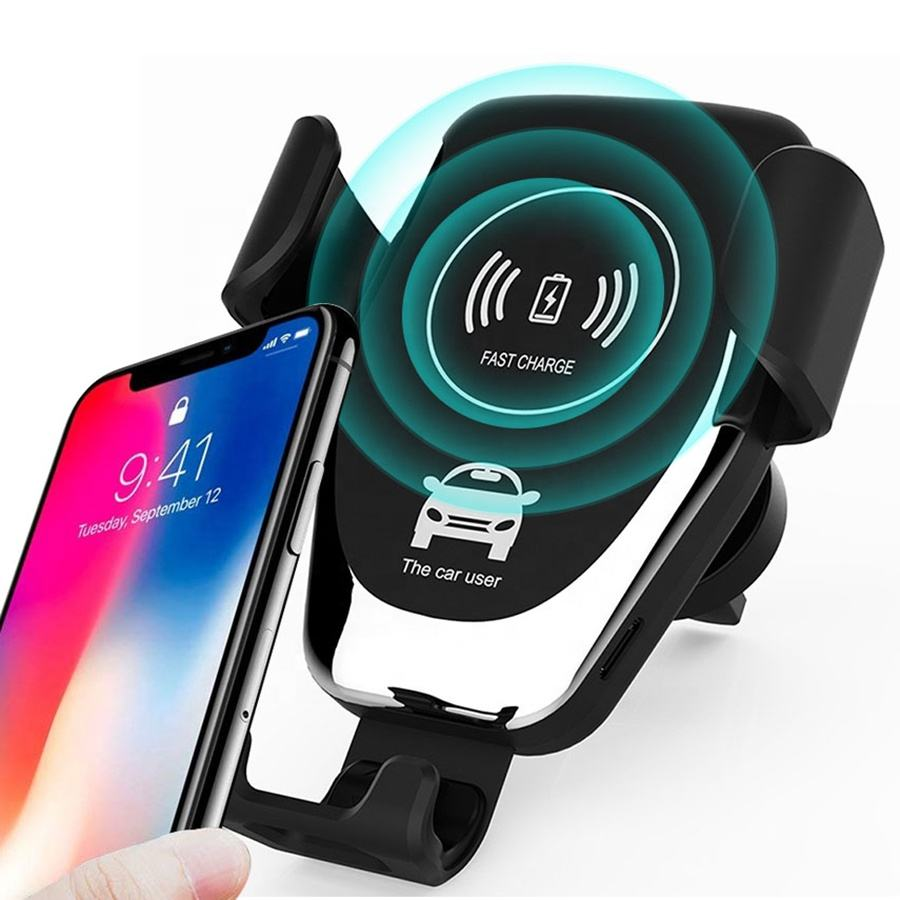 Amazon Hot Selling Car Holder Wireless Charger 10W Fast Charging Wireless Charger For iPhone ,Car Holder Charger For Samsung