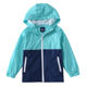 Boys Girls Summer Lightweight Hooded color-blockJackets Water Resistant Raincoat children jacket