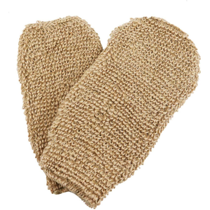 Eco Friendly Natural Hemp Exfoliating Bath Mitt Glove And Scrubbing Hemp Glove For Bath