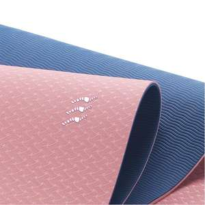 High quality custom oem logo blank portable travel pilates double layer yoga mat