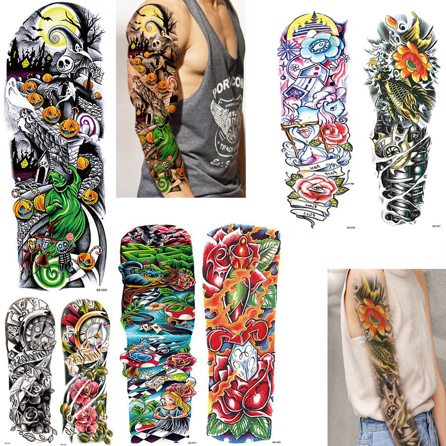 Best Dragon Full Arm Tattoo Sleeve Stocking for Men QB3001 - QB3040