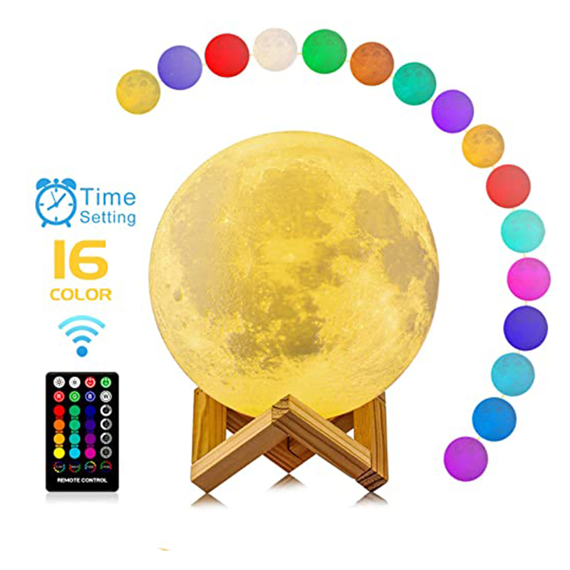 Touch Control Photo 3D Print LED Moon Night Lamp Room Decoration Creative Moon Light For Child Lady Lover Birthday Gift