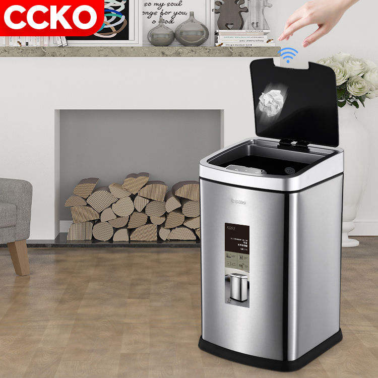 CCKO 6L/9L/12L stainless steel electric touchless induction automatic garbage rubbish waste bin sensor dustbin smart trash can