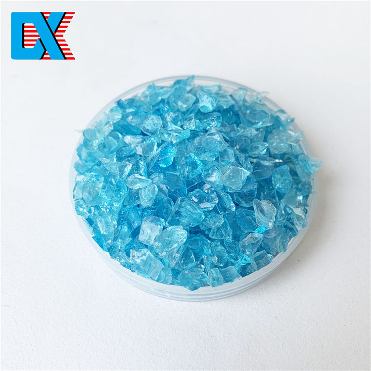 China crushed recycled decorative broken sea blue glass terrazzo sand