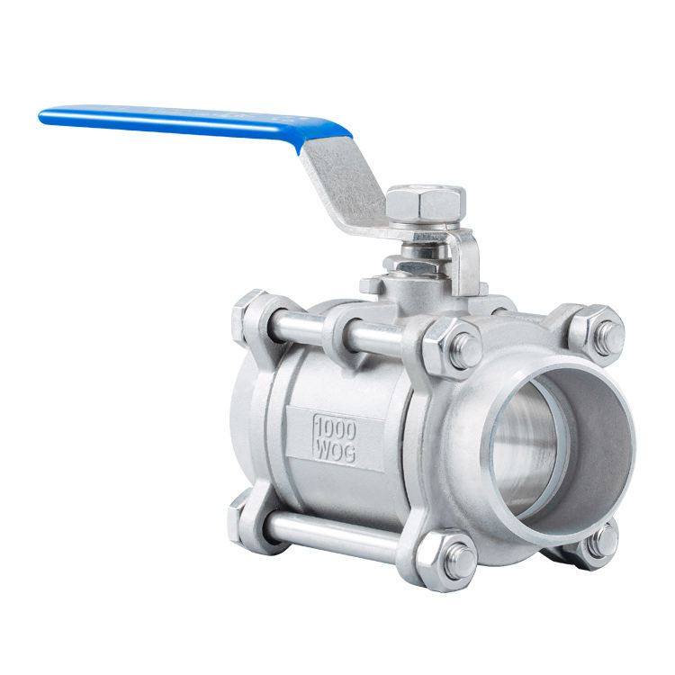 "China Xintai 1000wog 2"" Stainless Steel 2 Inch Three Piece Screw Ball Valve"