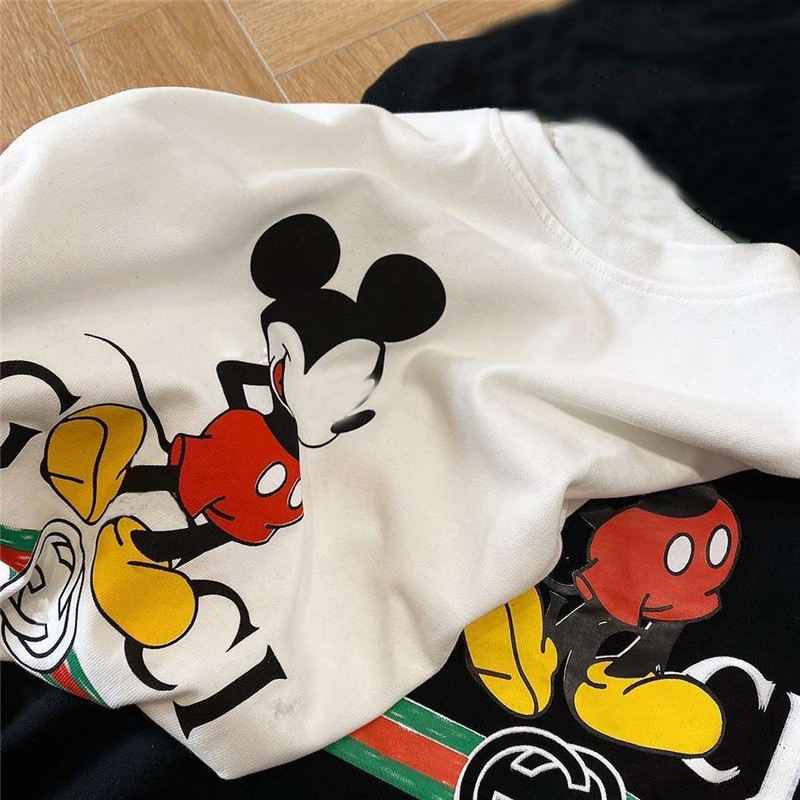 The new 2020 Short sleeved mickey mouse t shirt for women men unisex cartoon print girls t-shirts