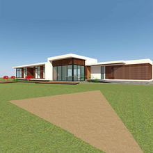 High quality prefabricated prefab luxury house Chile bungalow home 186m2