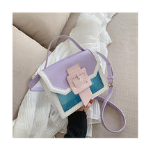 Panelled Women Designer Ins Trendy Handle Purse Messenger Lady Transparent Flap Shoulder Bag Clear Crossbody Bag Korean 2020 New