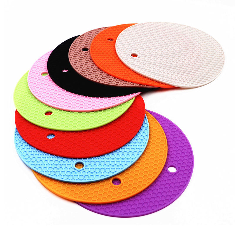 Silicone Rubber Trivet Mat for Hot Pan,Silicone Pot Pads Counter Mat, Heat Resistant Table Placemats