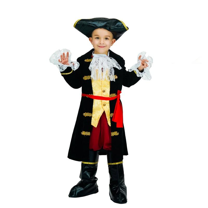New Style Super Deluxe Pirate Costume Halloween Party Carnival Cos Pirate Costume For Kids