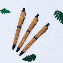 Cork pen ballpoint pen + red wine plug material accessories, environmental protection ballpoint pen