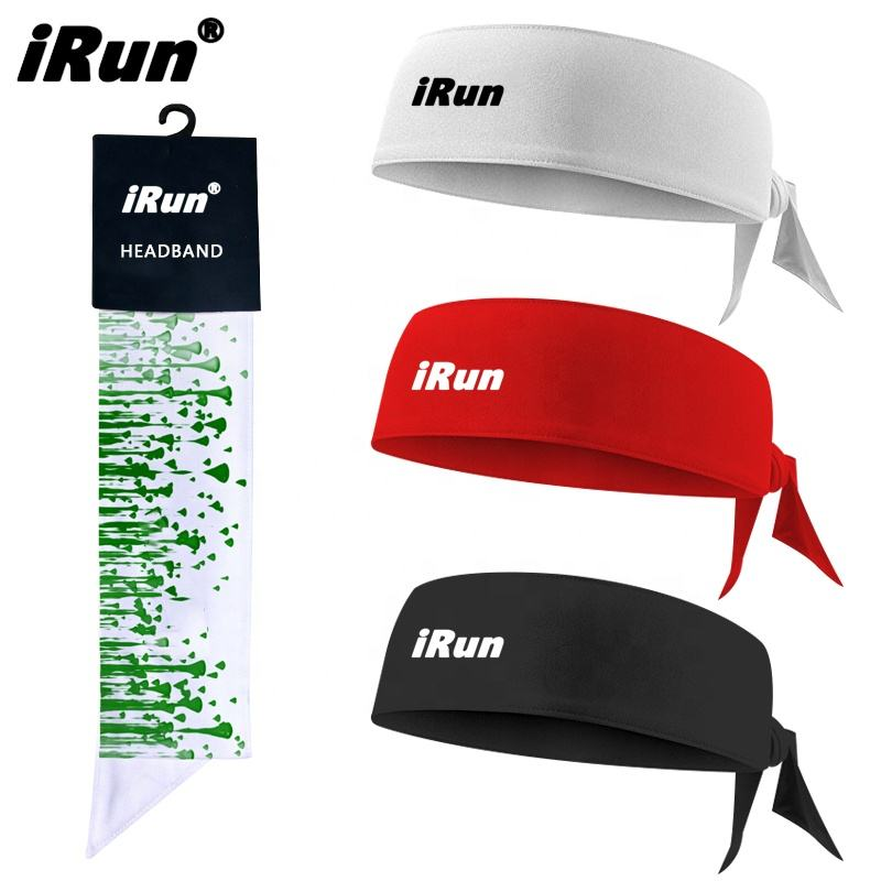 iRun PURE High Quality print running adjustable Sports Compression Custom Headband For Adult&Youth Hair Accessory Head Sweatband