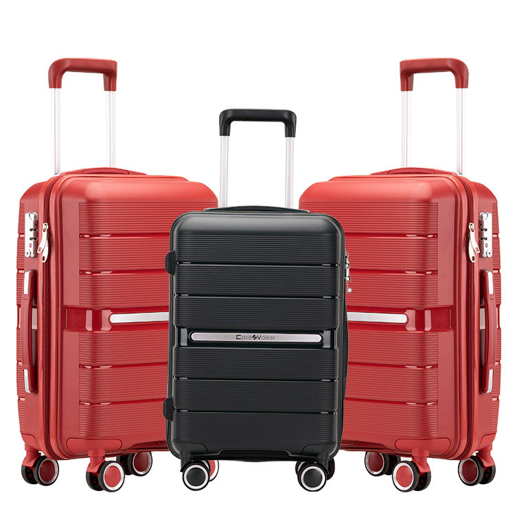 Super hot sale high Quality PP Trolley Luggage Bag 100% PP Hard shell PP newest valise for Travel Bag Luggage Sets