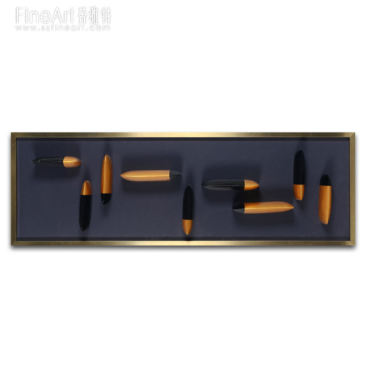 High quality Metal Modern Resin Wall Hanging for hotel decor