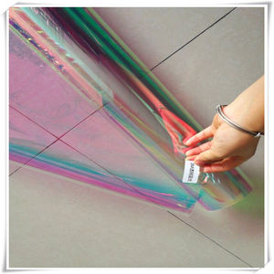 RG Holographic Cellophane Gift Wrap Film Roll For Decoration Packing Lamination