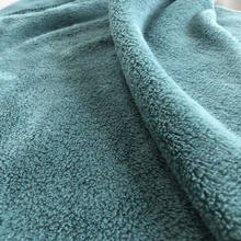 China factory 260gsm 100% polyester solid double-side coral fleece material fabric for textile