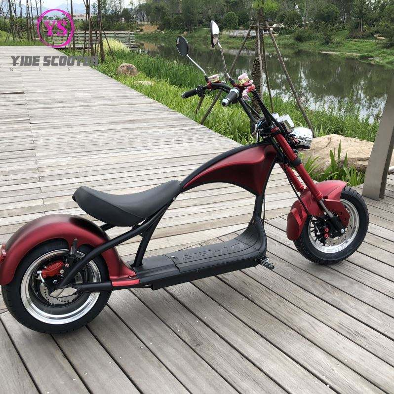 2020 Electric Motor Car Fat Tire Electric Scooter Chopper 1200W Citycoco