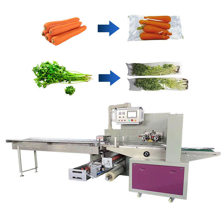 Servo Control High Speed Automatic Frozen Vegetable washing and HFFS packaging machine