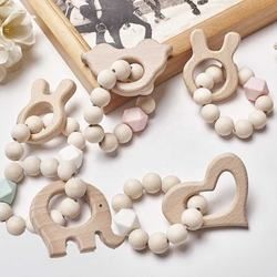 Organic Animal Wooden Teether baby teething toys teething ring best teething toys