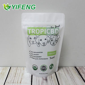 100 Lb Of Dog Food With Zipper Stand Up Bottom Pouch Side Gusset Top Pet Packaging Biltong Safe Plastic Bag