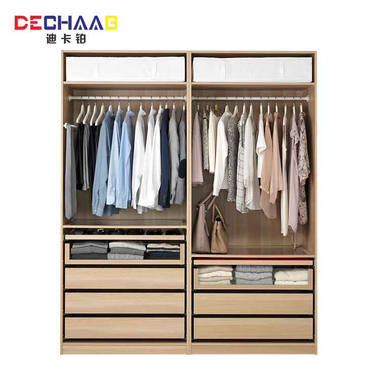 Solid wood 3 doors wardrobe furniture modern bedroom wardrobes design