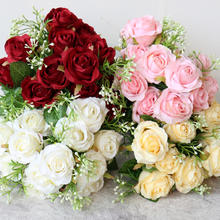 Artificial Silk Flowers Peony Bouquets Bridal Rose Flowers Bouquet For Wedding Home Decoration Flores Artificiales