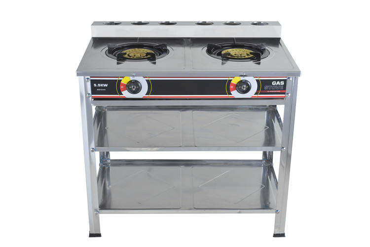 2 Burner Table Gas Stove stainless steel double gas cooktop bbq grill outdoor kitchen