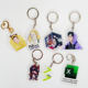 wholesale cheap freely samples odm custom logo print acrylic keychain as promotional gifts