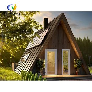 Prefabricated low cost wood modular bungalow for resort