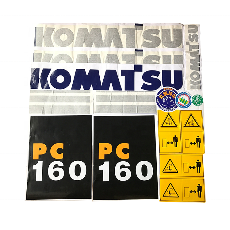 Factory Supply Digger Sticker Construction Machinery Decal Full Excavator Sticker