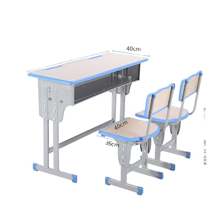 school furniture double seater school desk and chair 2 person adjustable school desk and chair