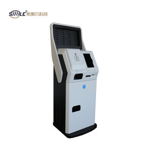 Custom 19 inch free stand touch screen cash acceptor kiosk terminal with printer/card reader/coin acceptor for bitcoin atm