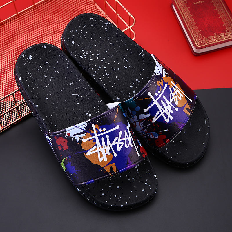 2020 Summer Slide shoes men slide slipper advertising Personalized Outdoor Indoor Sandal, sublimation print slippers