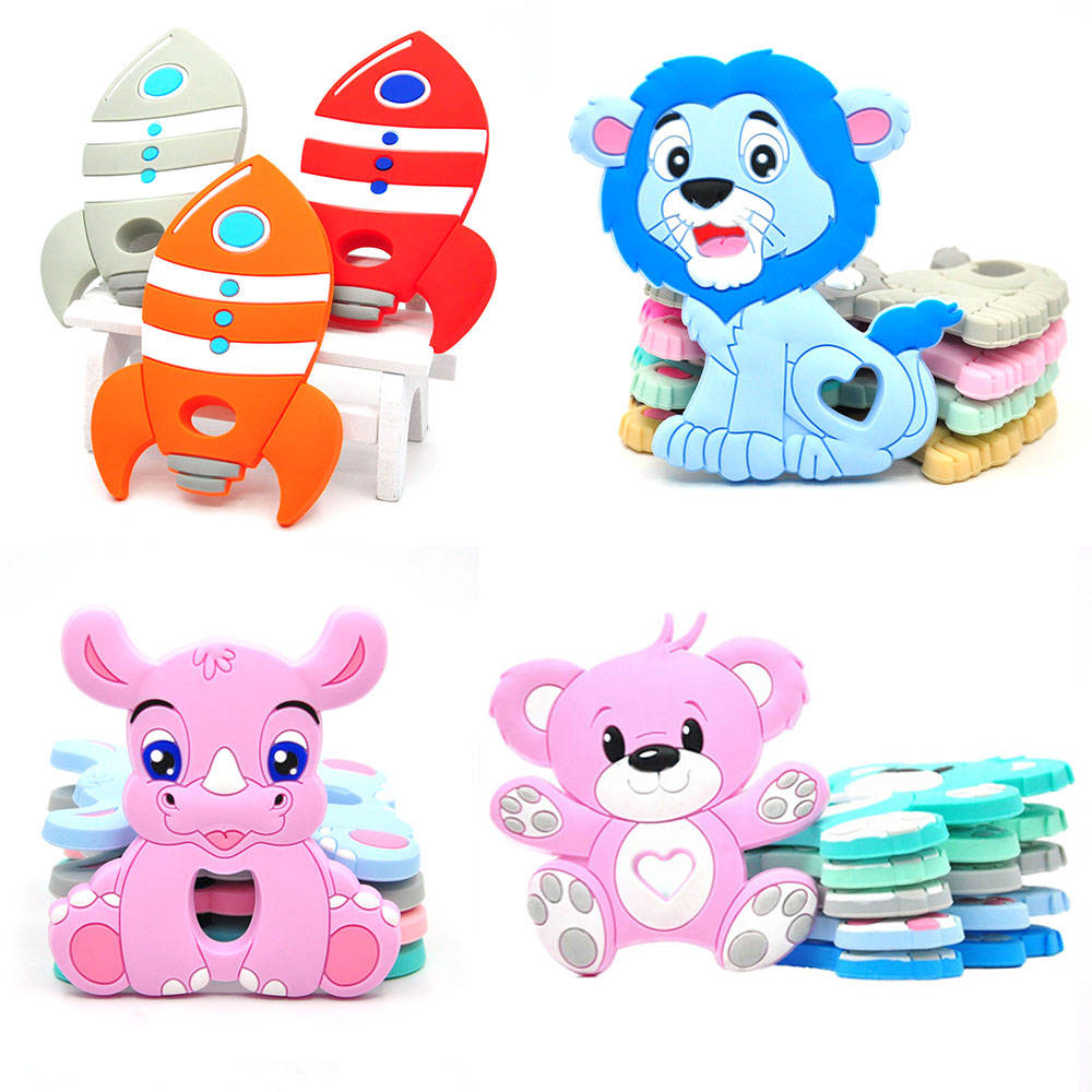 Silicone Teething Pendant Chewing Animal Panda Baby Silicone Teether