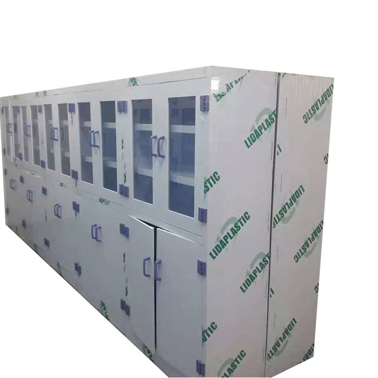 High Quality PP plastic laboratory cabinet/glass door lab storage cabinets/plastic lab safty cabinet