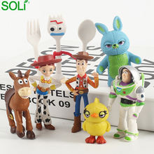 Anime Toy Story 4 Figure Buzz Light Year  Tracy Woody Aliens Jessie Dragon  Set Models Toys
