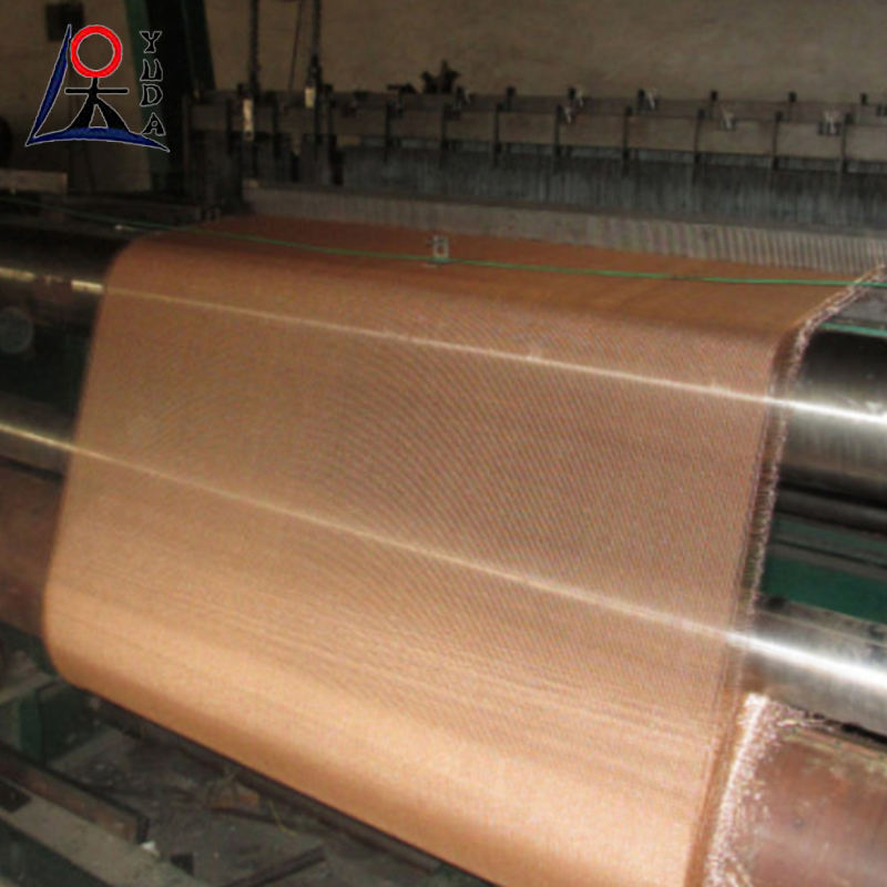Customized ultra fine 200 mesh clothing brass red copper woven fabric for rfi shielding