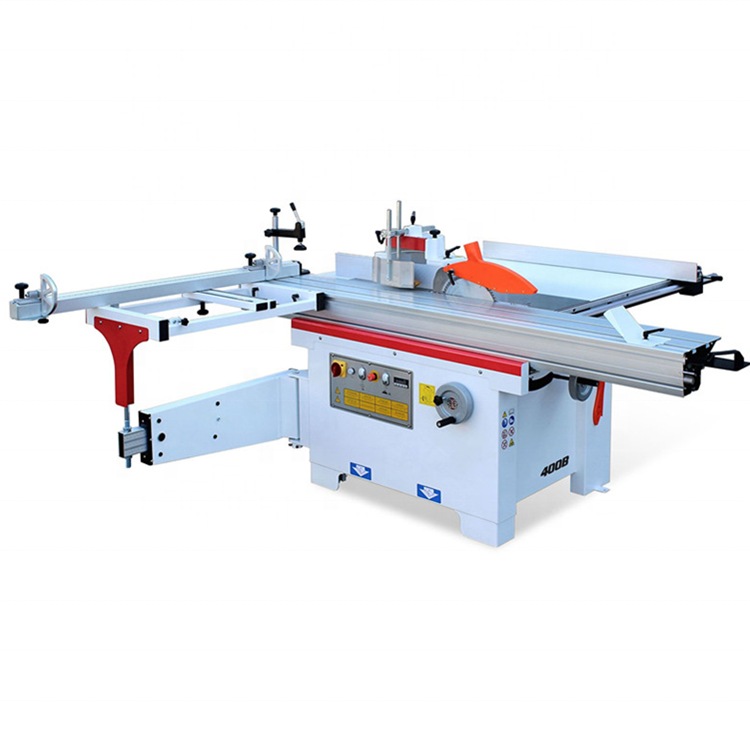 Combined wood sliding table saw with wood shaper machine woodworking combination machine with 2 functions