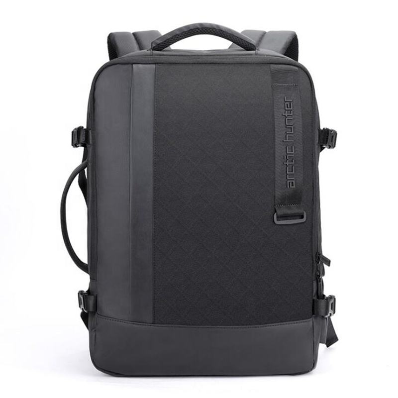 17 inch Waterproof Oxford Cloth USB Interface Extensible Large Capacity Office Men Unisex Business Bag Backpack