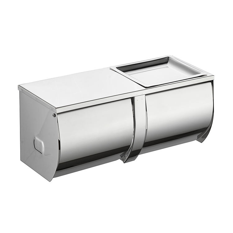 Nickel [ Roll Towel Dispenser ] Paper Roll Dispenser Hot Sale Double Toilet Roll Paper Holder Bathroom Waterproof N-fold Paper Towel Tissue Dispenser