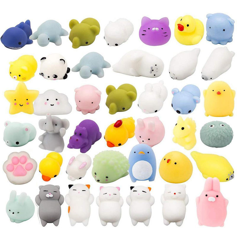 2020 New Products Silicone Anti Stress Toy Kawaii Slow Rising squeeze mochi squishies TPR mini squishy toy